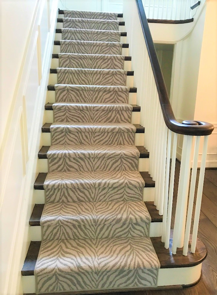 animal print stairs